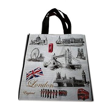 My London Souvenirs - Bolsa de mano con diseño de monumentos icónicos de LondresBolso para compras, reutilizable. Souvenir.Bolsa de mano de ...