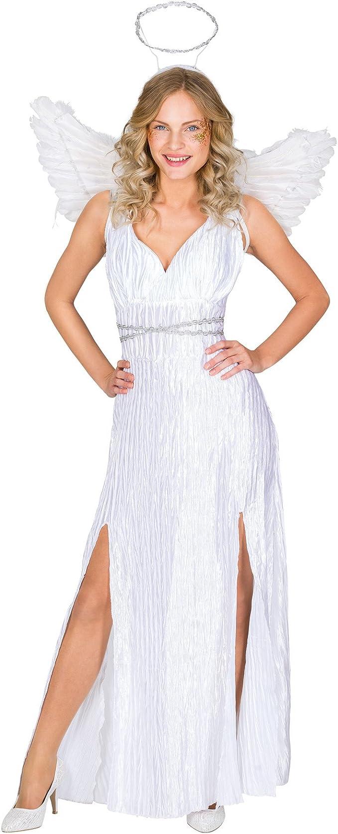TecTake dressforfun Disfraz para Mujer de ángel | Vestido Largo + Aureola & Preciosas alas (XL | no. 300237): Amazon.es: Juguetes y juegos