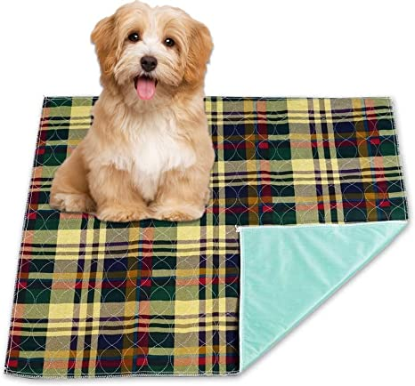 6 Reusable 34x36 Plaid Washable Pad Pet Dog Puppy Cat Pee Wee Wee Training