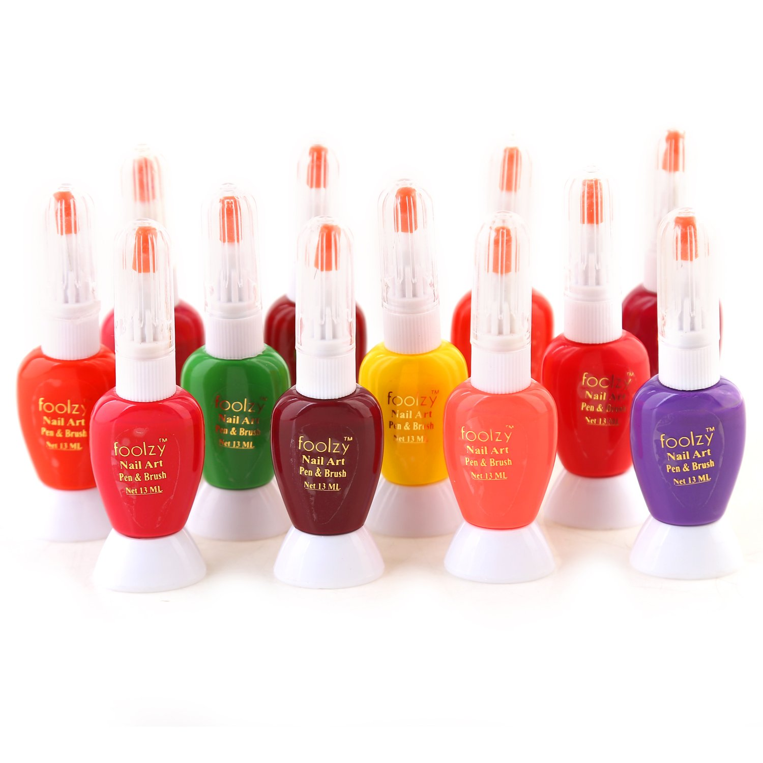 Buy Foolzy® Pack of 12 Two Way Nail Art With Pen Online at Low ...