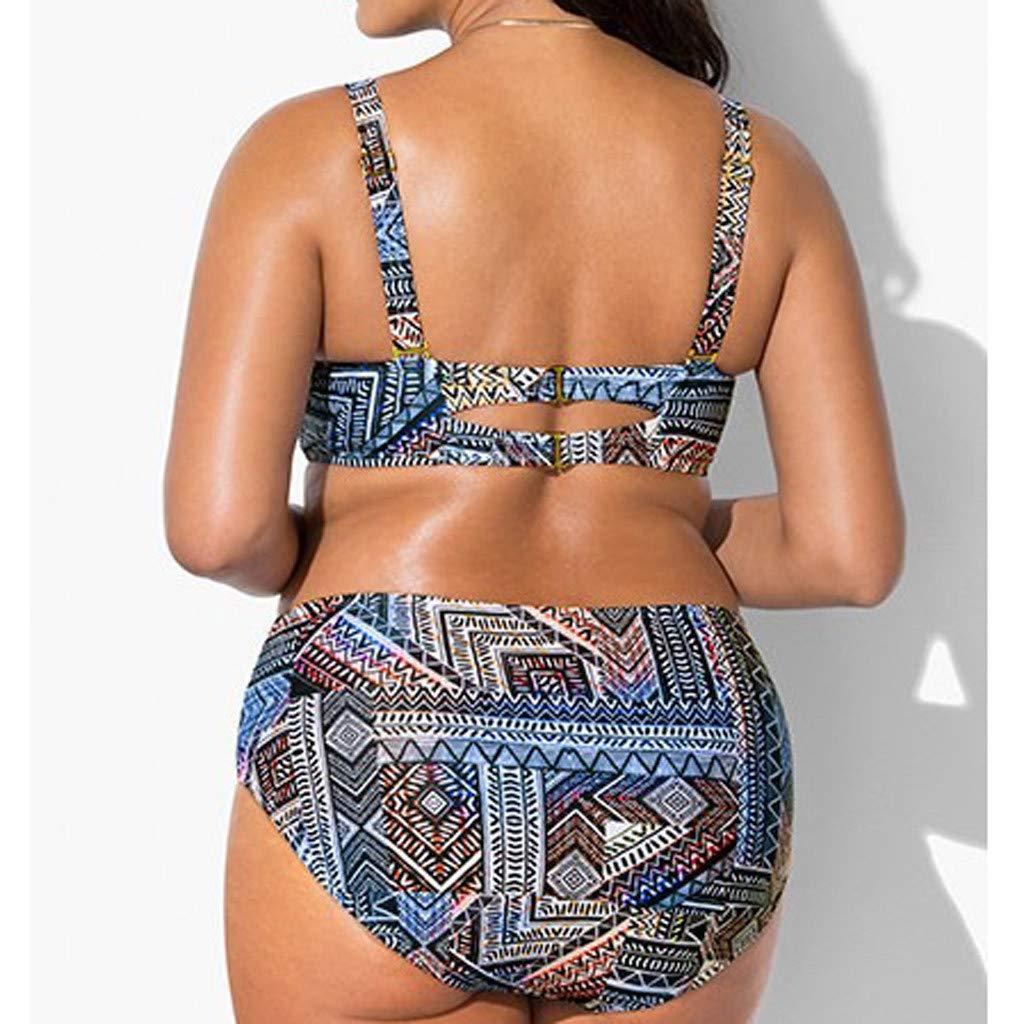 Conjuntos de Bikinis de Boho Mujer 2019 brasile/ño Traje de Ba/ño Bikini Talla Grande Mujer Push Up Ba/ñadores Biquinis