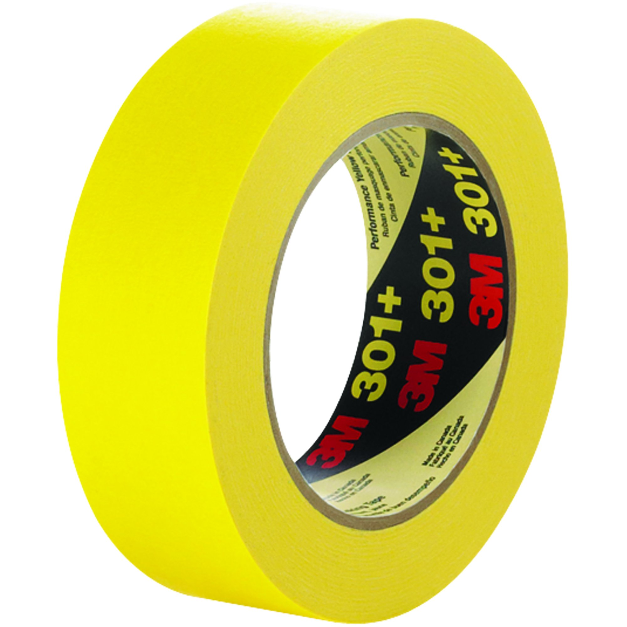 3M T936301 Yellow #301+ Masking Tape, 1-1/2'' x 60 yd. (Pack of 24)