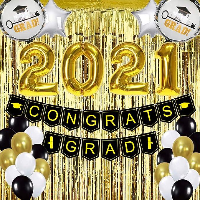 Gold /& Silver Spray Pièce Centrale Décoration Graduation Caps Noir