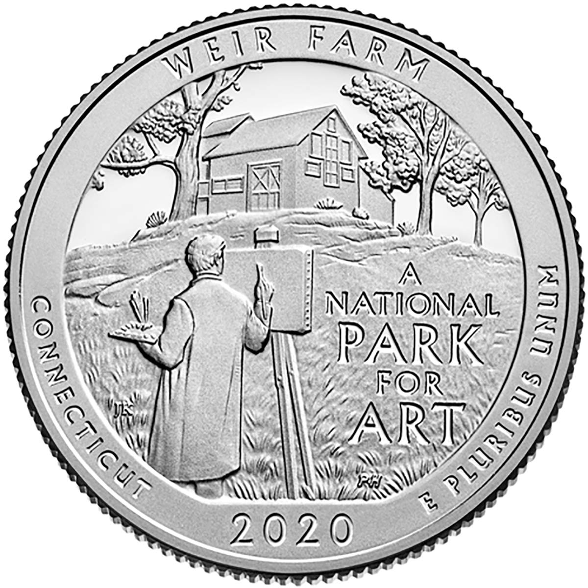 2 Coin Set Uncirculated D Weir Farm National Historic Site Quarter Singles 2020 P