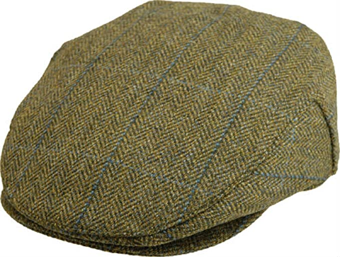 e5bc1831 Failsworth Tweed Cap, Waterproof, Breathable and Teflon Coated, Flat ...