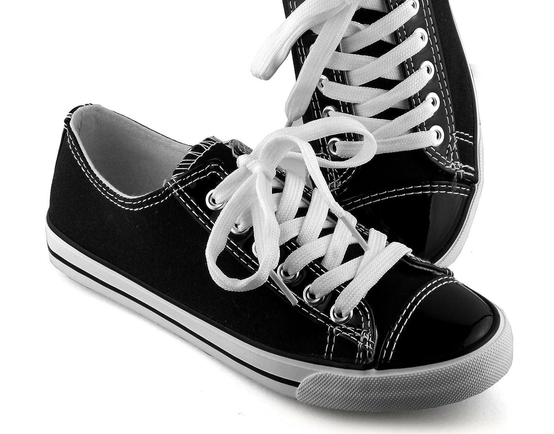 if she Sportlich elegante Damen Schuhe Skater Halbschuhe