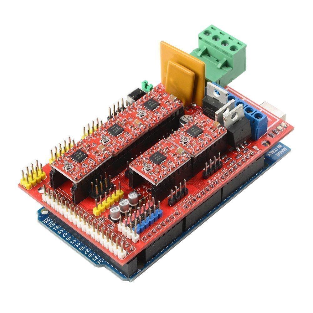 Osoyoo 3d Printer Kit Controller Ramps 14 Mega 2560 R3 5pcs Pin Computer Smps Circuit Diagram Pdf On Pinterest A4988 Stepper Motor Driver With Heatsink Lcd 12864 Graphic Smart Display