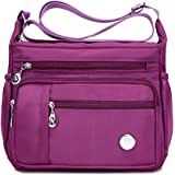 Waterproof Nylon Shoulder Crossbody Bags - Handbag Zipper Pocket