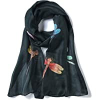 Invisible World Women's Silk Scarf Hand Painted Dragonfly