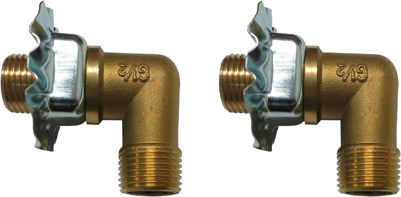 - EquipmentBlvd 2 Sets Of Wall Mount Faucet 1/2