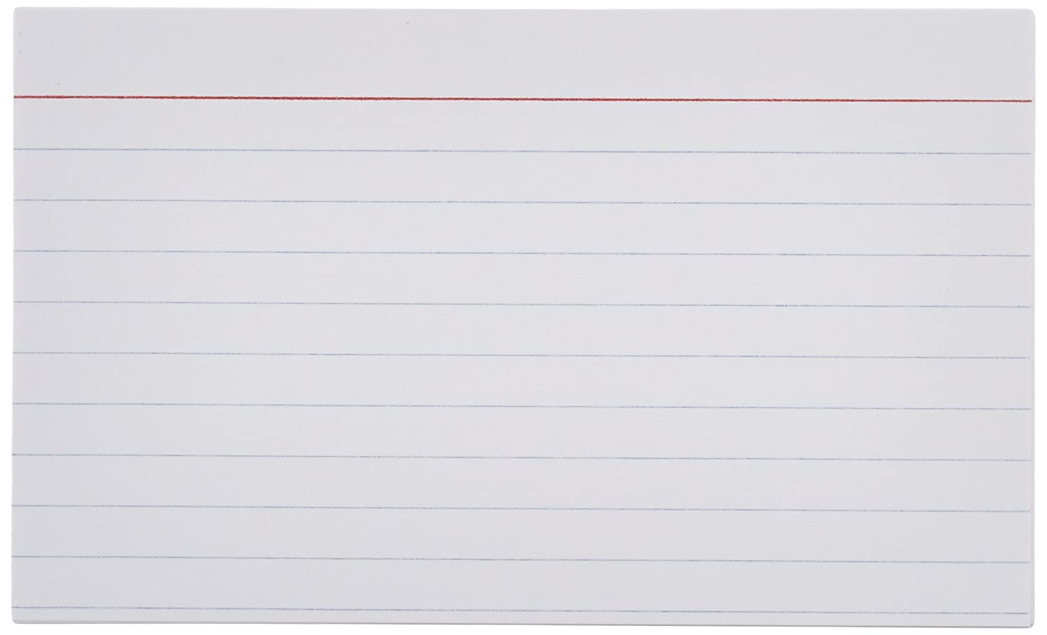 size of a notecard