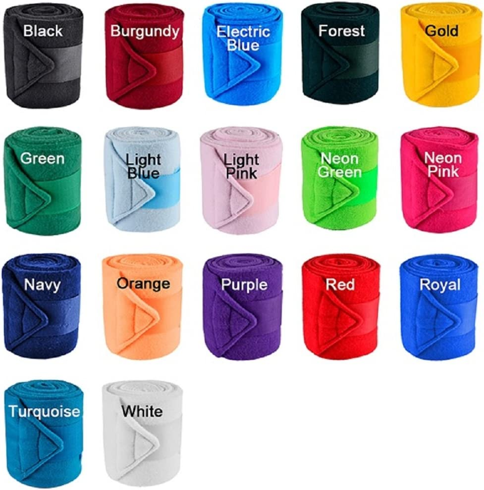 """Horse Fleece Thick Shock Resistant Deluxe Polo Wraps Bandages 4 3//4/"""" x 9/' Choice"""