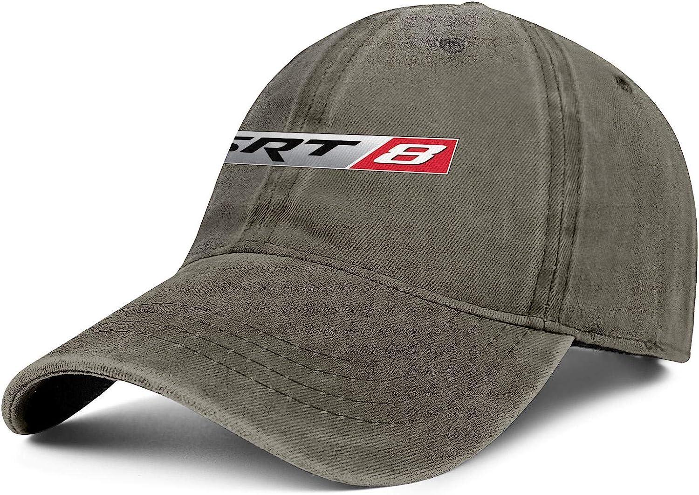 Mens Womens Hat SRT-Logo Snapback Hats Fitted Denim Cap Classic Caps