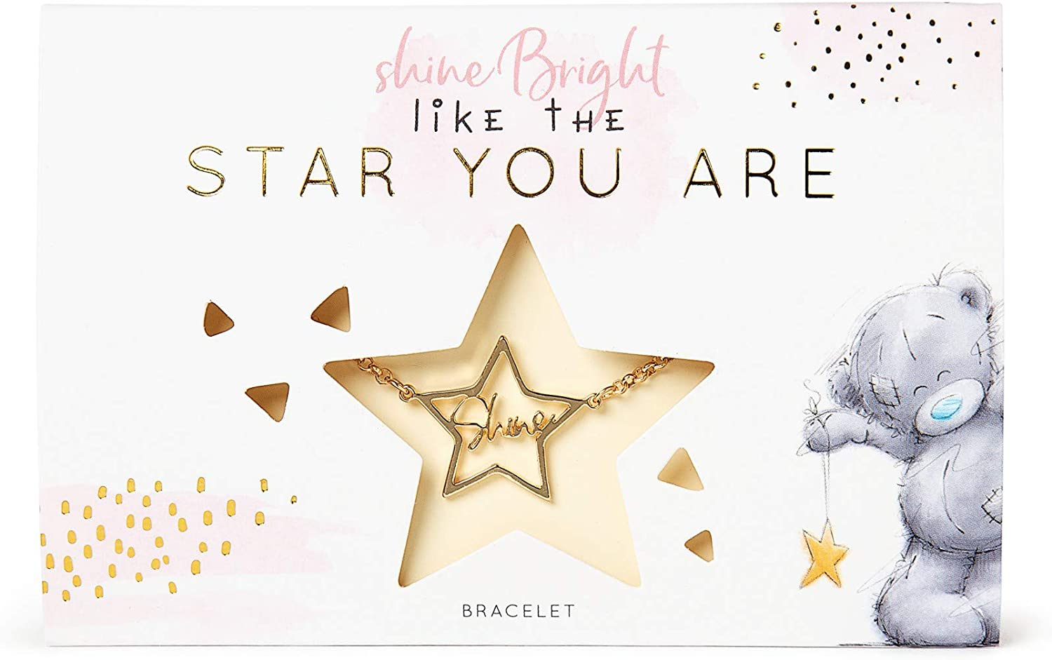 silver or rose gold Nylon bracelet with star pendant to \u00bbMerry Christmas\u00ab card stainless steel in the colors gold