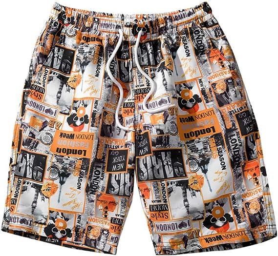Hombres Pantalones Cortos de Playa Deporte Verano Shorts Casuales ...
