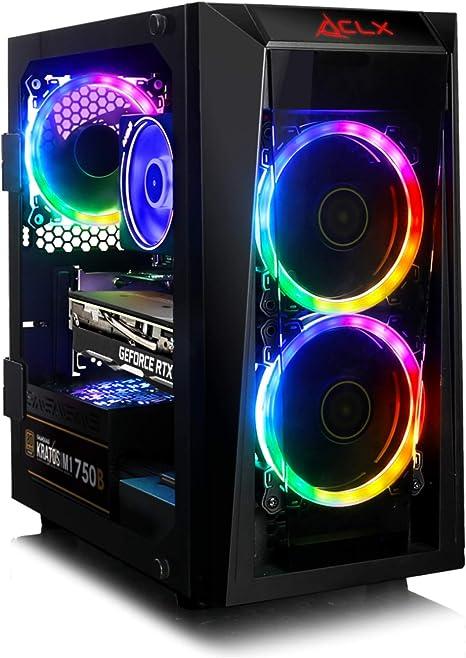 Amazon Com Clx Set Performance Gaming Desktop Amd Ryzen 7 3700x Processor B450 Matx 16gb Ddr4 Geforce Rtx 2060 Super 8gb 240gb Ssd 2tb Hdd Wifi Black Mini Tower Rgb Fans Windows 10 Home