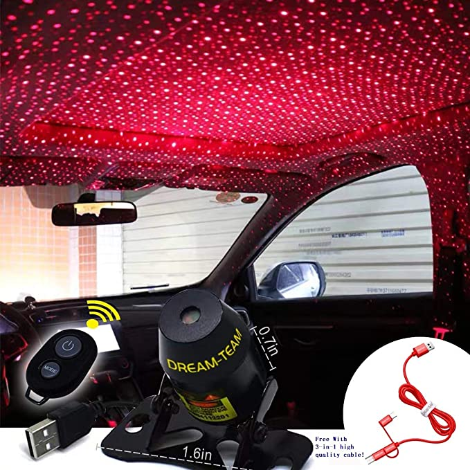 Car interior lights LED decorative armrest box car roof full star projection laser,Romantic Auto Roof Star led,The interiors Multiple Modes Lights for ...