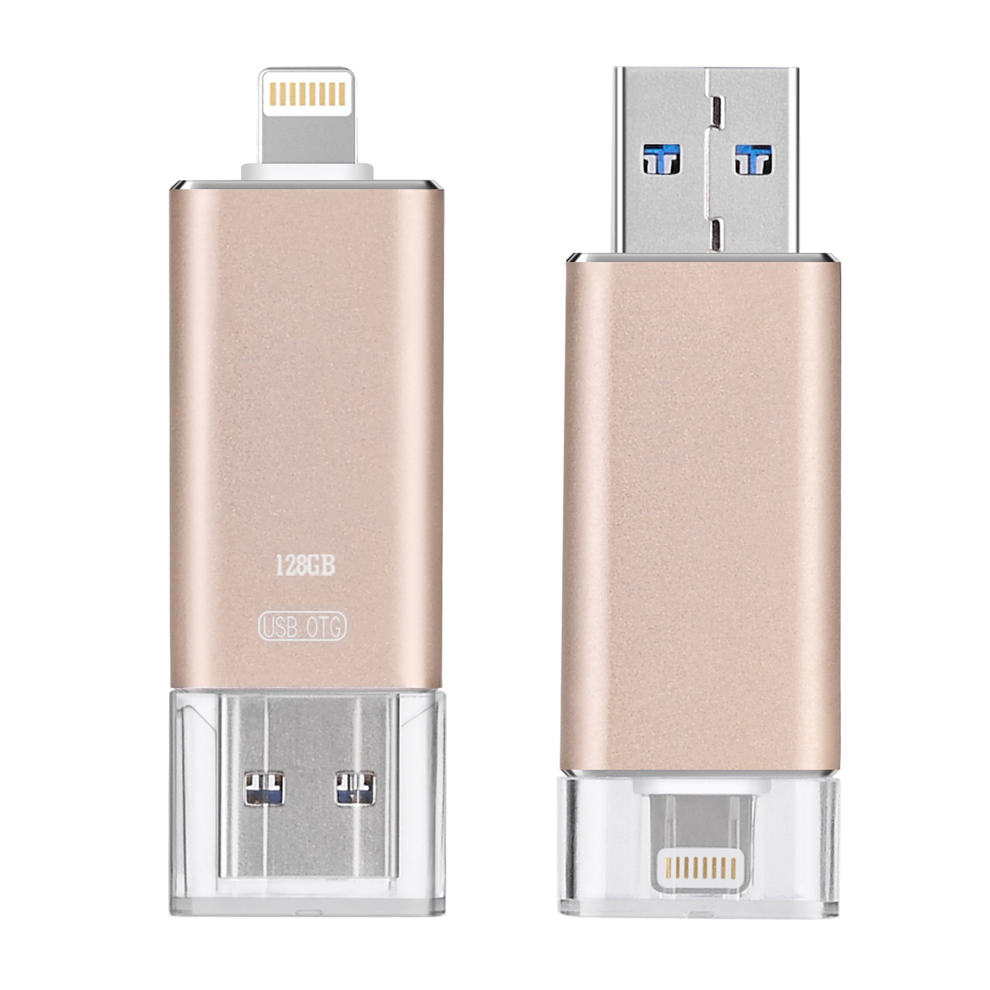 Aokay 33155 UD2 Apple USB Flash Drive Disk Memory Stick with OTG for iPhone, IPod, iPad and Computers Lightning Connector