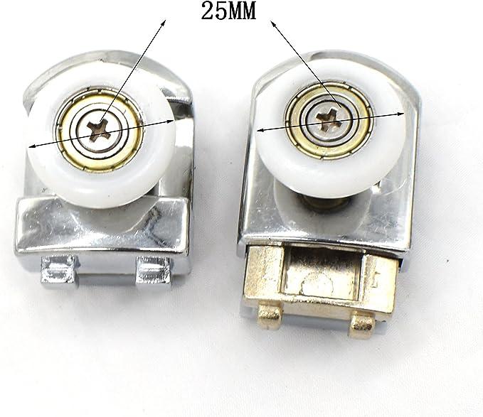 Puertas de ducha rodillos corredores ruedas poleas 25 mm Diámetro ...