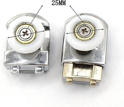 poleas de 25 mm de di/ámetro Rodillos para mampara de ducha 8 unidades piezas de repuesto para ba/ño