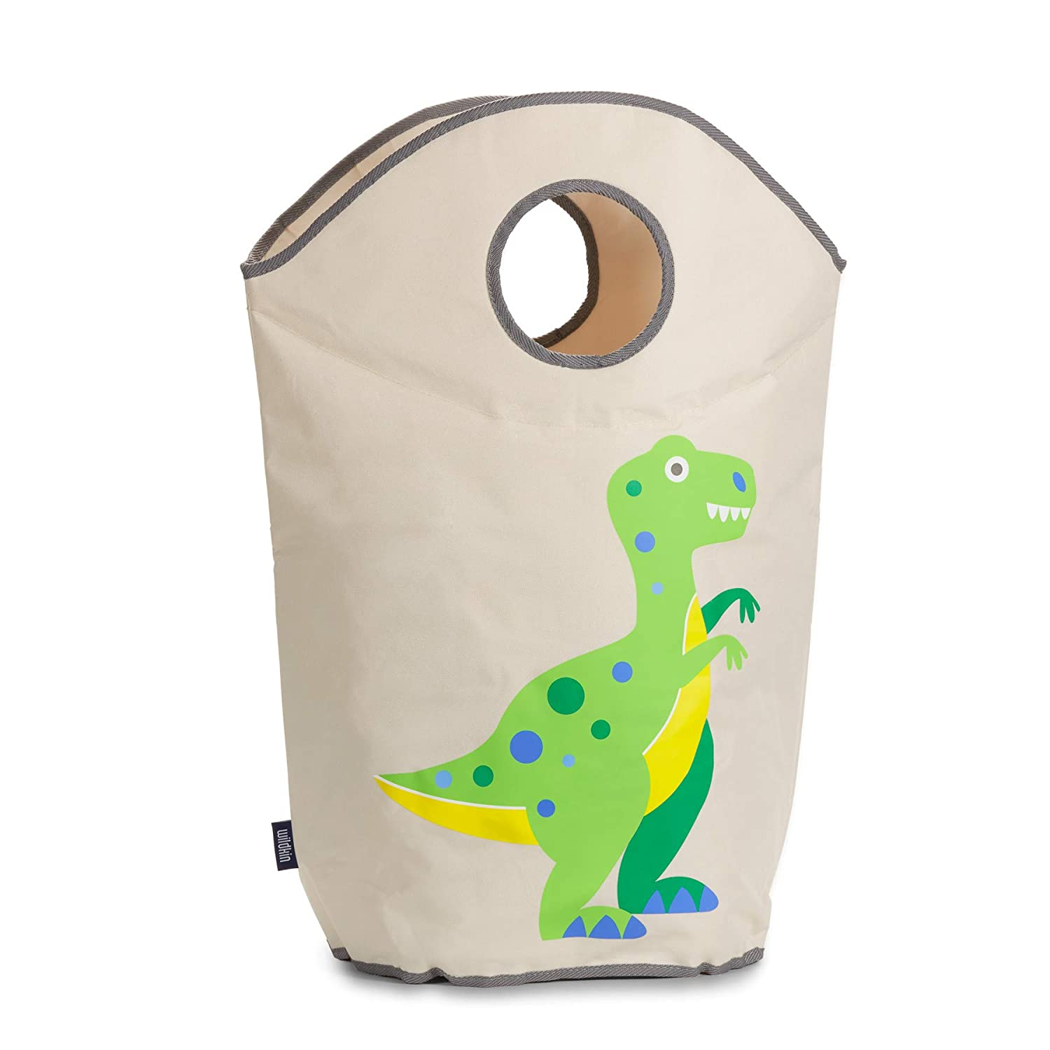 Wildkin Laundry Hamper, Features Mesh Bottom and Two Top Carrying Handles, Perfect for Promoting Organization, Coordinates with Other Room Décor, Olive Kids Design – Train