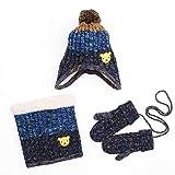 LoveKids Sherpa Lined Printed Hat/Scarf/Glove