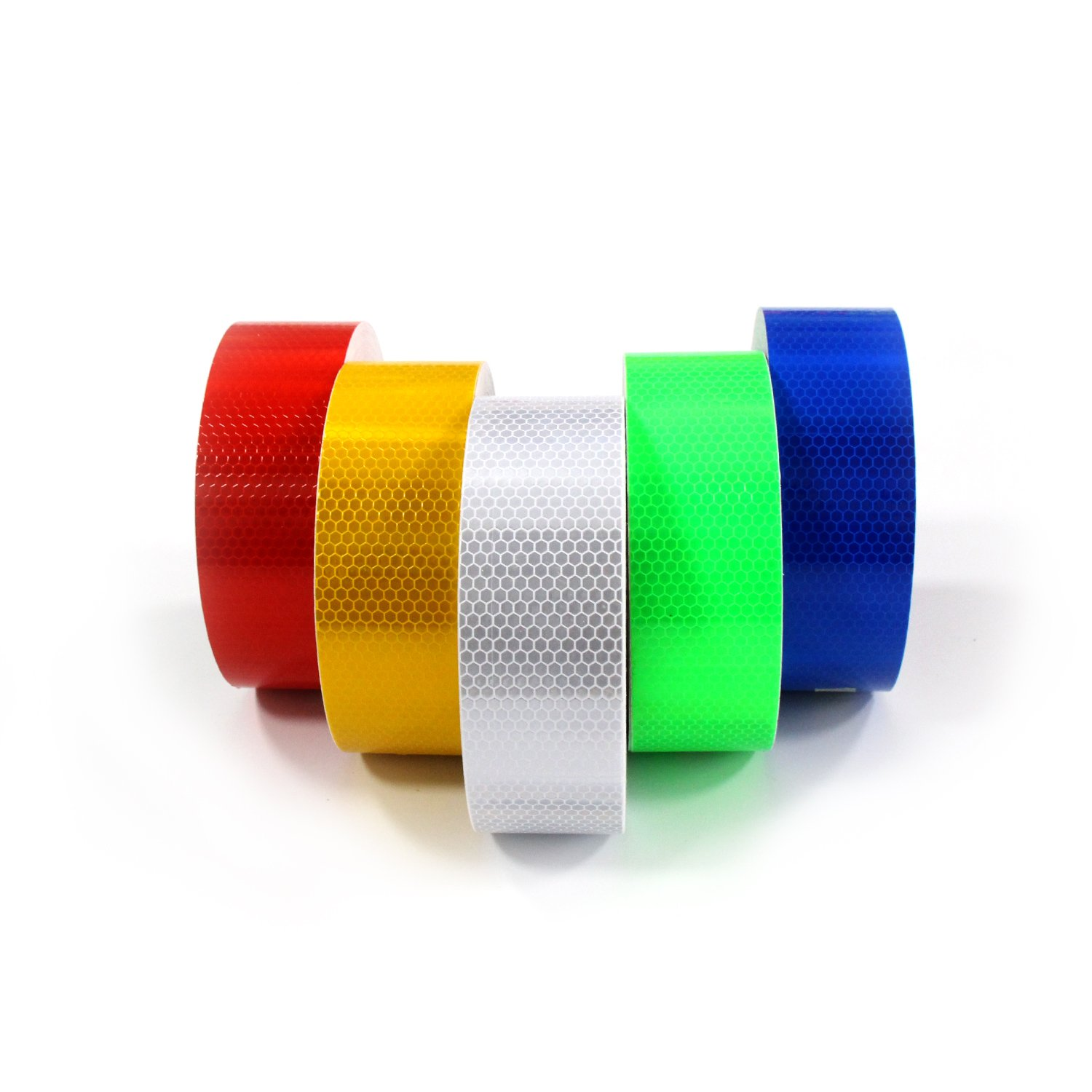 Abrams 2 in x 150 ft Diamond Pattern Trailer Truck Conspicuity DOT Class 2 Reflective Safety Tape White