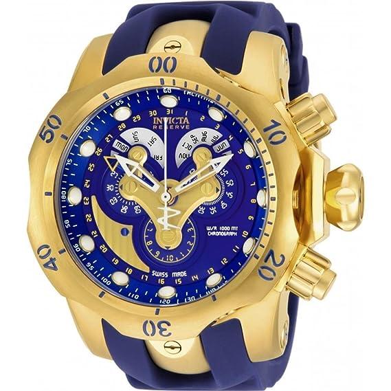 Invicta 14465 - Reloj para Hombres, Correa de Goma Color Azul: Amazon.es: Relojes