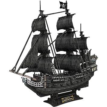 Cubic Fun Puzzle 3d Barco Pirata La Venganza De La Reina Anne 308 Piezas T4018h