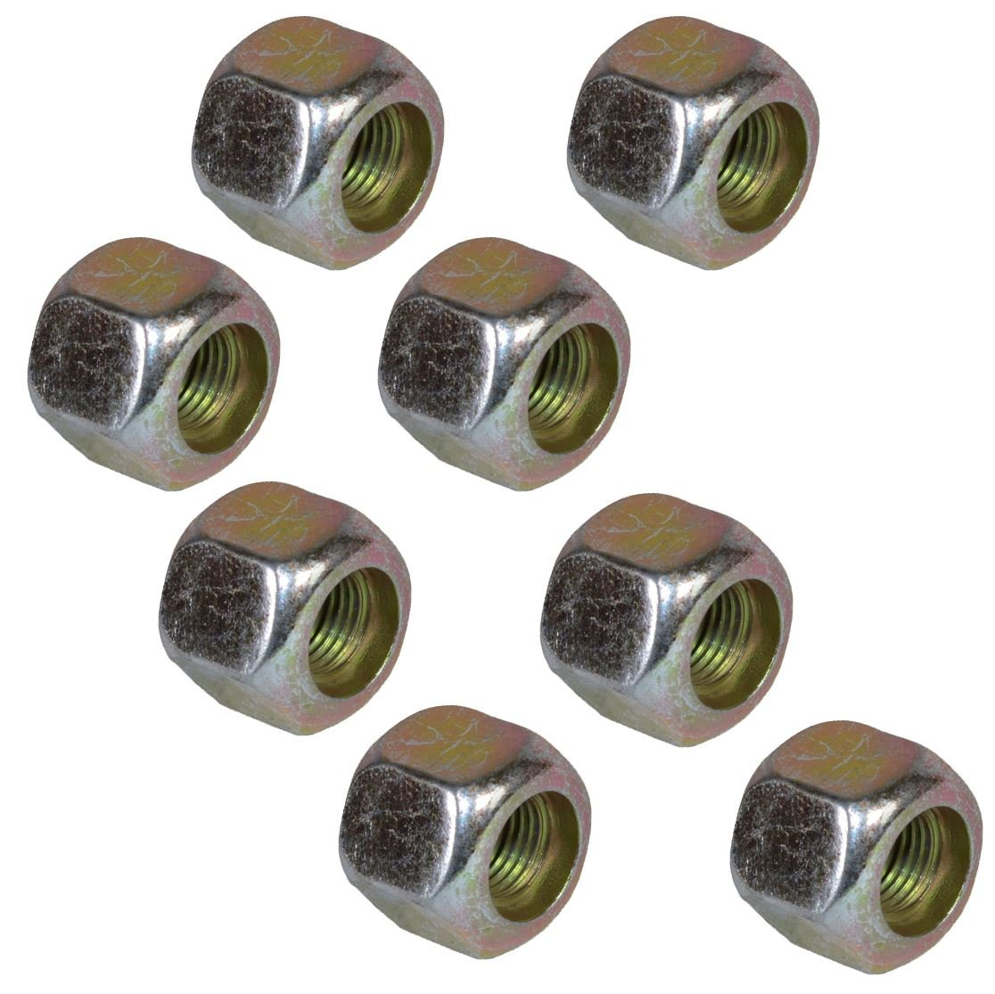 Pack of 8 3//8 UNF Wheel Studs and Nuts for 4 PCD Trailer Suspension Hubs