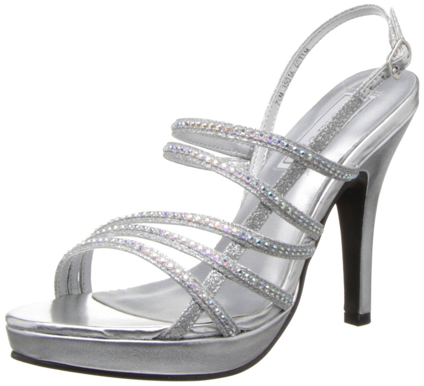 Touch Ups Women's Julie Platform Sandal B00G57VFRY 6 B(M) US|Silver Metallic