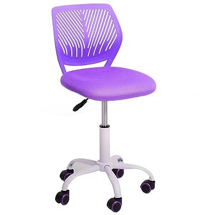 GreenForest Furniture Mid Back Adjustable Home Office Children Desk Chair,  Purple