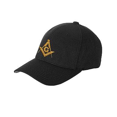 6da1c7ad2e617 Square   Compass Masonic Solid Color Baseball Hat - (Black) at Amazon Men s  Clothing store