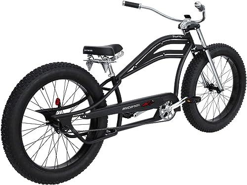 MICARGI Wide Big Fat Tires Stretch Cruiser Bicycle 7 Speed 29 x3 Front Rear Disc Brake