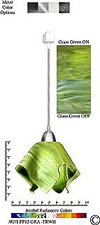 product image for Jezebel Radiance JRNI-FP12-GRA-TRNI Nickel Flame Track Light, Small, Grass Green