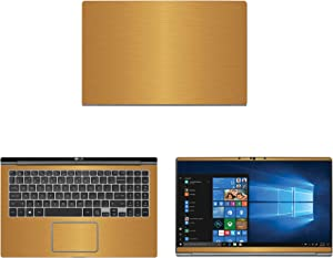 """Decalrus - Protective Decal for LG Gram 15Z990 (15.6"""" Screen) Laptop Gold Texture Brushed Aluminum Skin case Cover wrap BAlgGram_15z990Gold"""