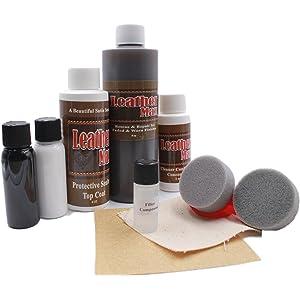 Furniture Leather Max MEGA Kit/Leather Restorer / 8 Oz Refinish 2 Oz Conditioner /