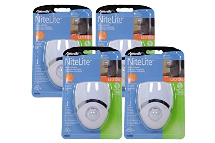 Amerelle Motion-Sensor LED Night Light – Plug-In LED Lights Turn on When