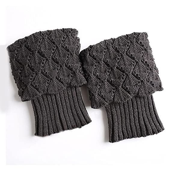 2019 Barato Calcetines Antideslizantes Niño Mujer Damas Invierno Crochet Boot Cuffs Shell Knit Toppers Boot Calcetines Calentadores De Pierna: Amazon.es: ...