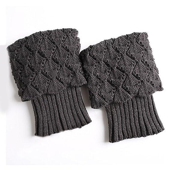 2019 Barato Calcetines Antideslizantes Niño Mujer Damas Invierno Crochet Boot Cuffs Shell Knit Toppers Boot Calcetines Calentadores De Pierna: Amazon.es: ...
