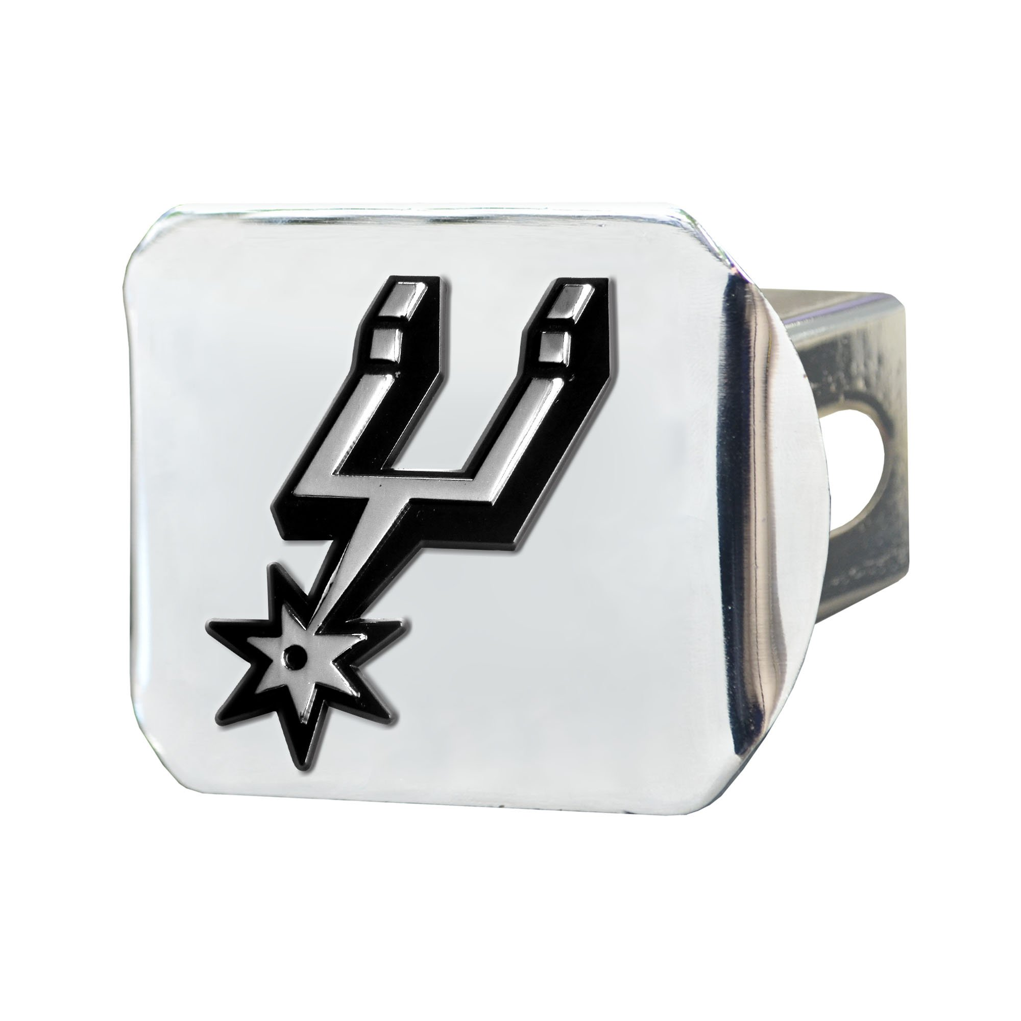 Fanmats NBA San Antonio Spurs Chrome Hitch Cover