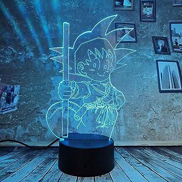 Orangeww Lámpara de ilusión 3d / Luz de noche 3d / 7 Colores ...