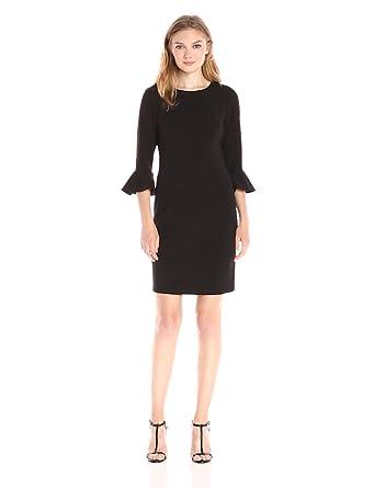 Dress Donna Bell Sheath Women's At Kendall Sleeve Elbow Morgan 34 SUMGjLzVqp