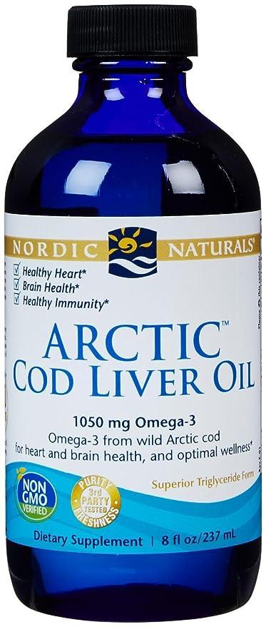 Aceite de hígado de bacalao ártico, 8 fl oz (237 ml) - Naturals
