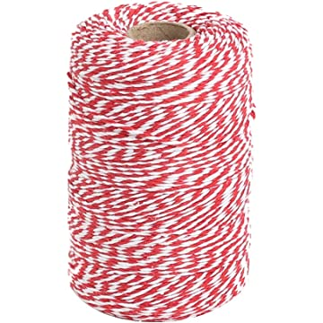 2 x 10m SPARKLING RED CHRISTMAS BAKERS TWINE XMAS BUTCHERS BAKERS ARTS CRAFTS