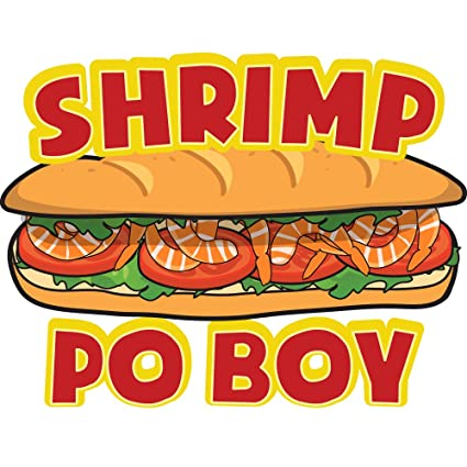 amazon com shrimp po boy 8 concession decal sign cart trailer rh amazon com Clam Clip Art Fry Clip Art