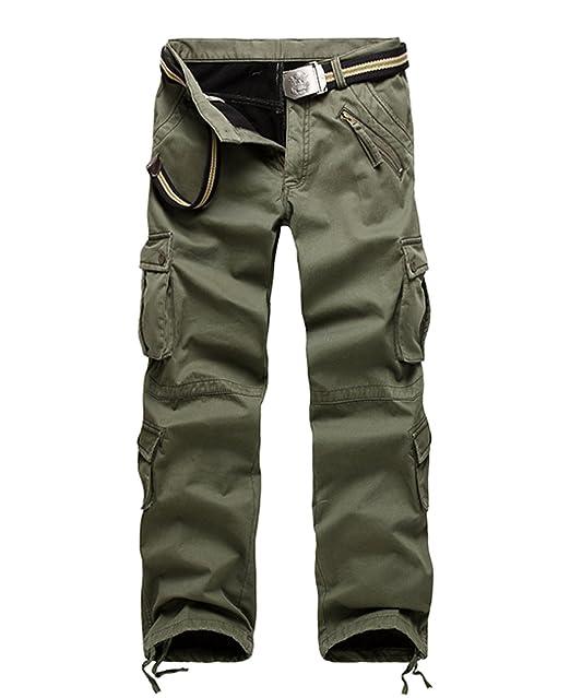 comprare on line e2d15 8ad0f XIAOXUE Pantaloni Cargo da Uomo più L'ispessimento di ...