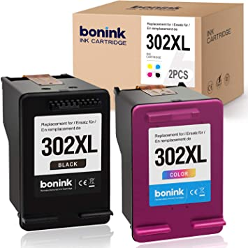 BONINK 2 Compatible HP 302 XL 302XL Cartuchos de Tinta reciclados para HP Officejet 3830 3831 3833 4650 4654 5230 Deskje 1110 3630 3636 3639 Envy 4520 4525 4527(Negro, Color): Amazon.es: Electrónica