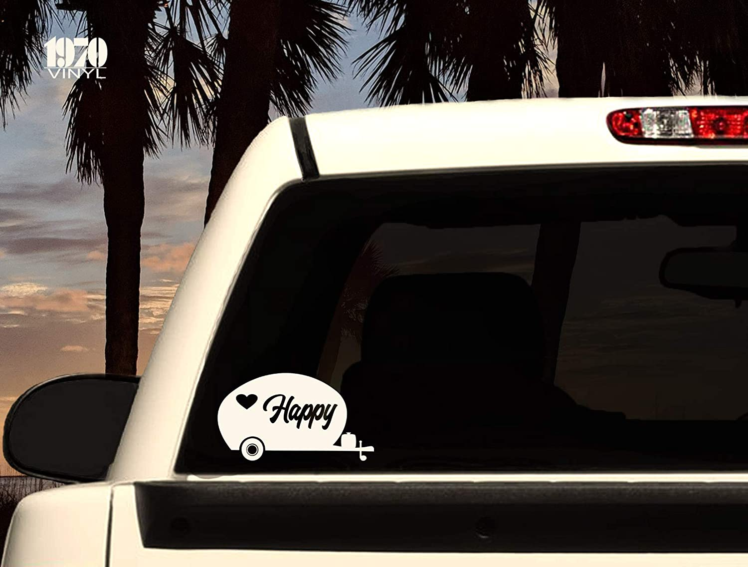 Happy Camper Vinyl Decal Window Decal Fast shipping!HappyCamper/_002