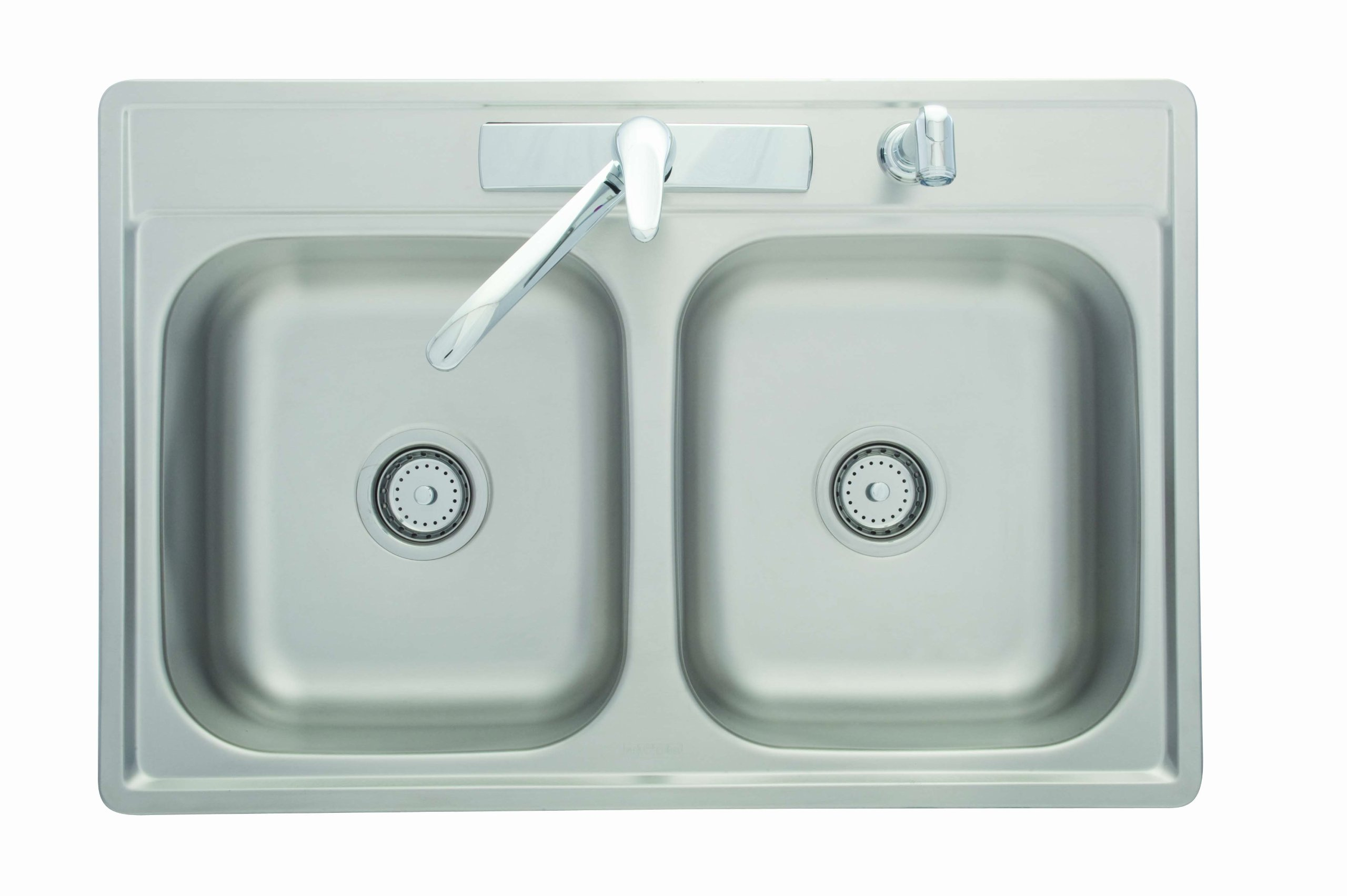 Kindred FDS704NKIT Double Bowl Stainless Steel 33x22in. Topmount Sink